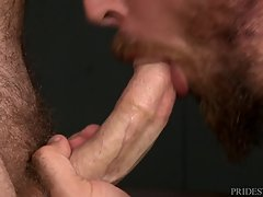 Jay is a champion when it comes to riding Dustin`s big cock, but Dustin wants to really change things up this time and tells Jay that he too wants to get fucked. But first he has Jay rim his ass. Once he is nice and wet, Jay begins to fuck Dustin slow at