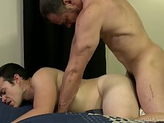 Max loves to eat that young ass as he spreads Jason`s leg wide to reveal that sexy hole.