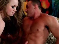 Madison Chandler wraps her lips around Marco Ratillo`s dick.