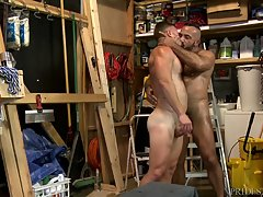 They swap BJs, then Alessio spreads open his ass and gets his tongue deep inside making sure his hole is nice and wet for a hard dick.