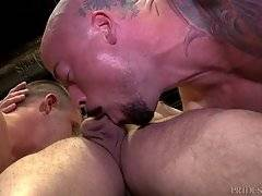Now we have three hard dicks are being sucked and played with from many different angles as these three men enjoy sucking and licking.