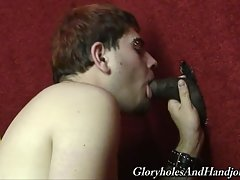 All of a sudden a monsterous black cock interrupted my party but I took matters into my own hands! I wanted to see how far the stranger cock would let me go. I was surprised he didn`t pull out when I wrapped my hands around it.