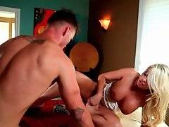 Sexy Blonde And Tough Guy Fuck On Massage Table 1
